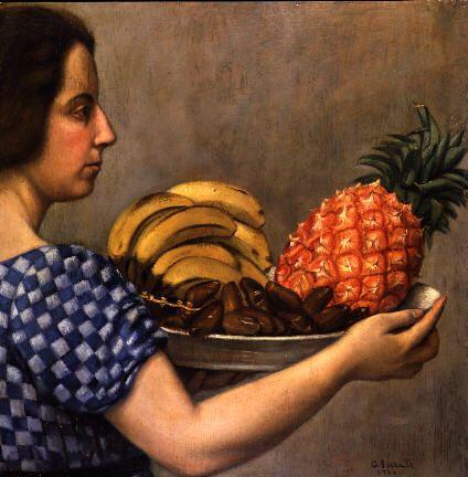 Carlo Socrate - Portatrice di frutta, 1924