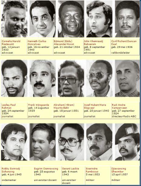 De Decembermoorden slachtoffers