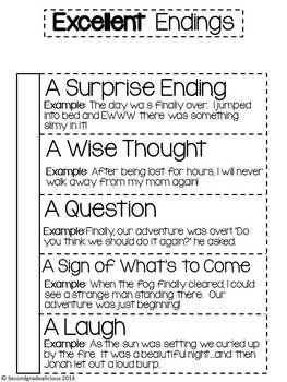 BOLD BEGINNINGS, MIGHTY MIDDLES, EXCELLENT ENDINGS - INTERACTIVE NOTEBOOK - TeachersPayTeachers.com