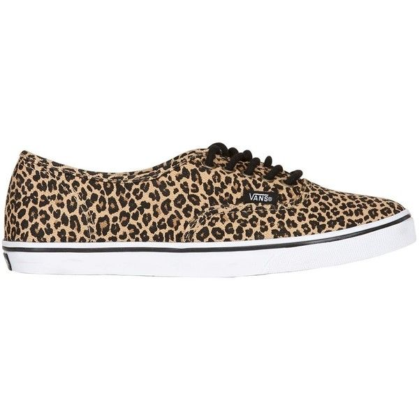 Vans Women 10mm Authentic Lo Pro Canvas Sneakers ($42) ❤ liked on Polyvore featuring shoes, sneakers, vans, flats, sapatos, leopard, flats sneakers, leopard flats, leopard sneakers and flat shoes