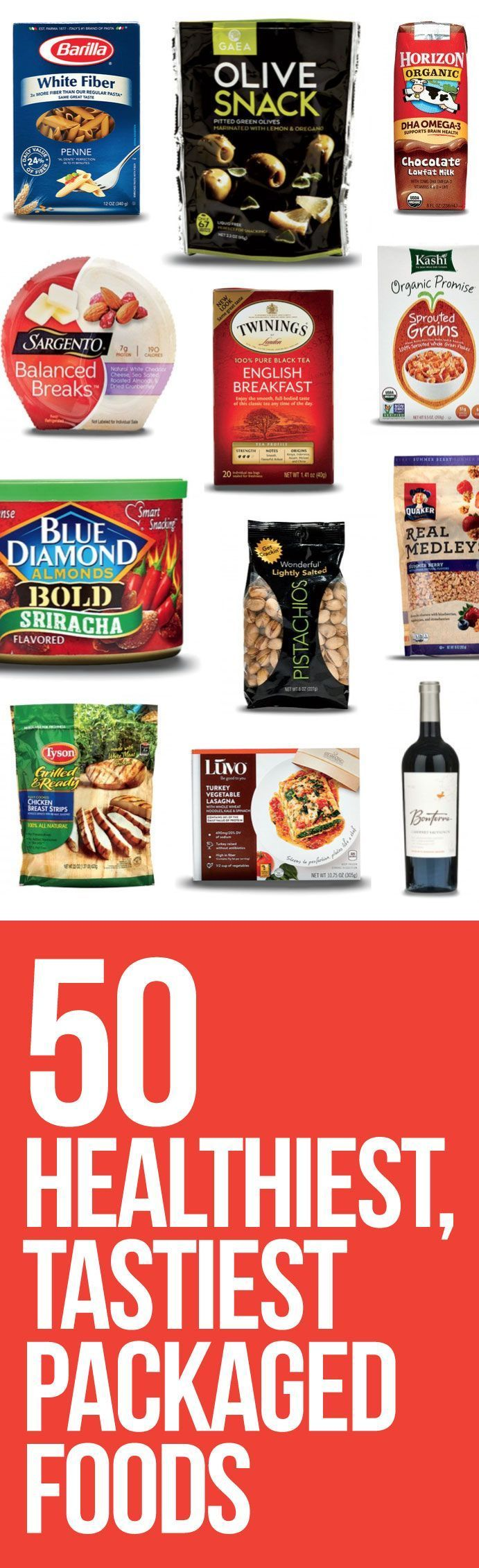 Add these smart foods to your grocery list! Great foods to also take with you on a road trip!