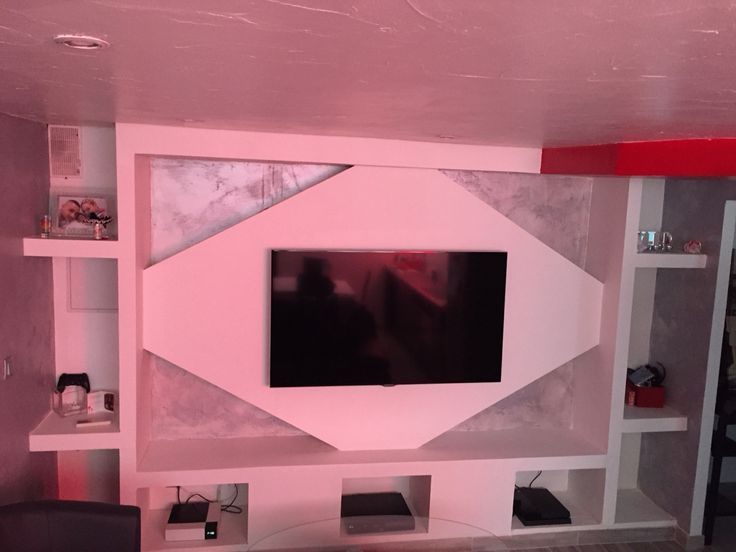17 meilleures id es propos de meuble tv placo sur for Decor de platre 2015