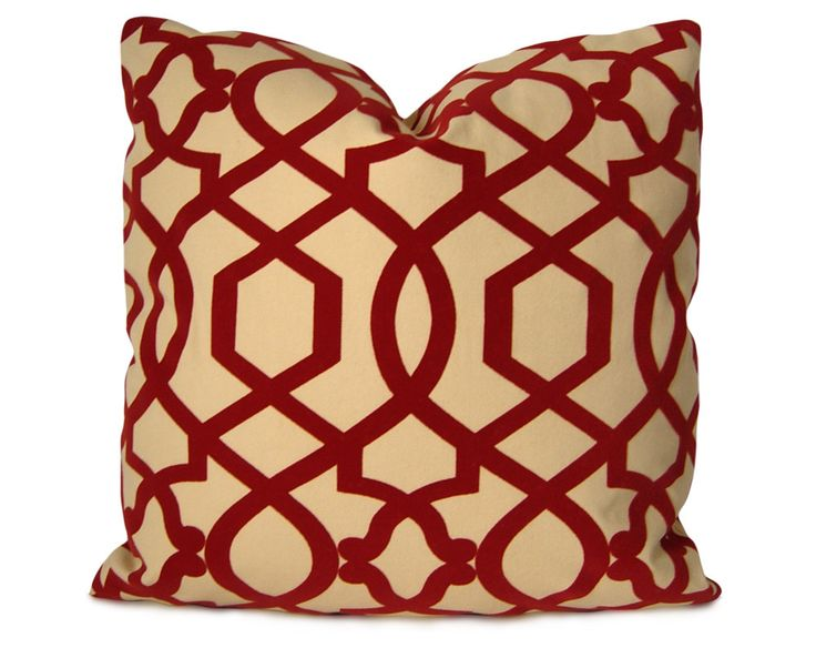 iman sultana trellis pillow cover in red u0026 beige accent pillow decorative pillow throw pillow