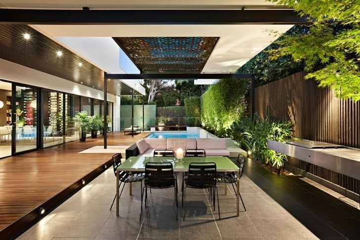 World of #Architecture: Beautiful #Modern #Backyard by Cos #Design | #worldofarchi #house #terrace
