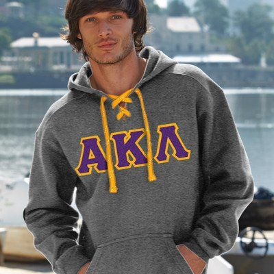 Alpha Kappa Lambda Hockey Hoody - J. America 8830 - TWILL