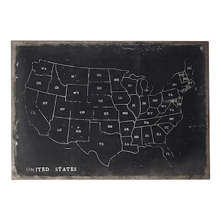 Sterling ''USA Map'' Canvas Wall Art