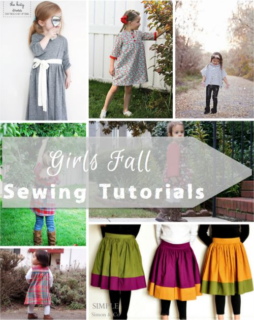 Girls Fall Sewing Tutorials - Here are some really cute girls fall sewing tutorials to help get you in the mood for this wonderful season!