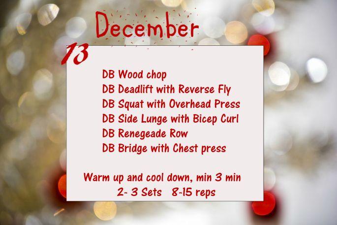 December Fitness Challenge - Day 13