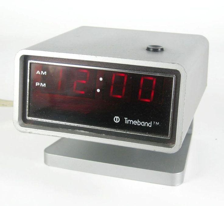 Timeband Digital Wecker 60er 70er Jahre Modell 500 USA Alarm Clock Vintage