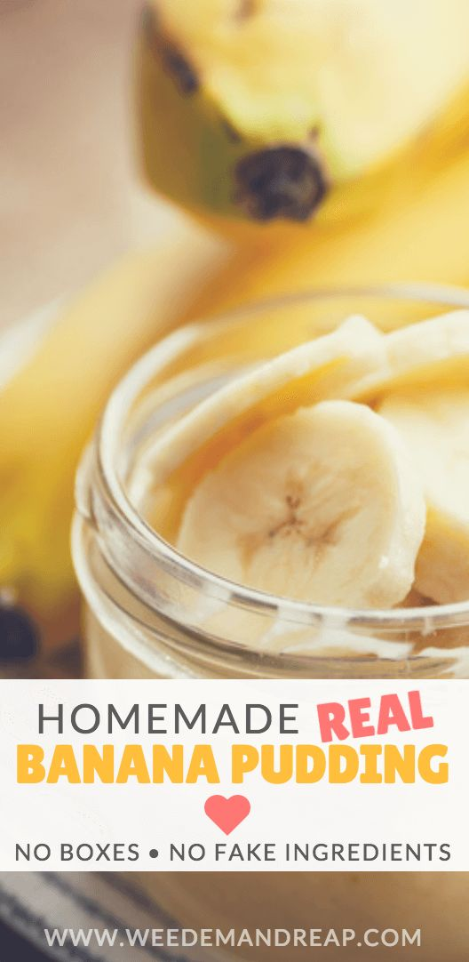 If you try to make homemade banana pudding from scratch, you'll hit a serious roadblock. This recipe is not only easy, it tastes AMAZING! https://www.weedemandreap.com/homemade-banana-pudding-from-scratch/
