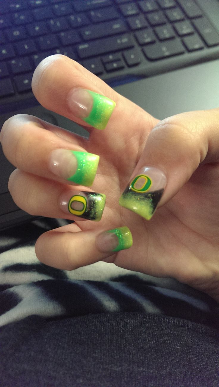 My Oregon Ducks Nails!