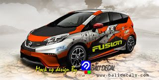 Sticker mobil nissan note