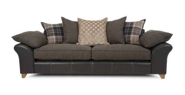 Reuben 4 Seater Pillow Back Sofa  Reuben   DFS
