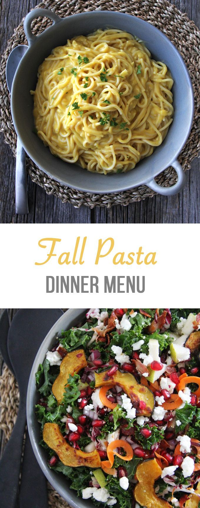 What's For Dinner?  A Fall Pasta Menu