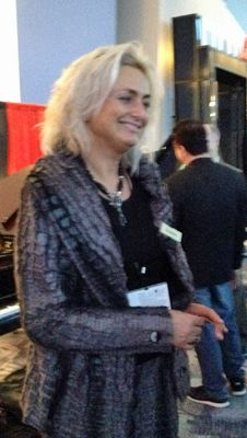 Zuzana Petrof at the NAMM show 2017