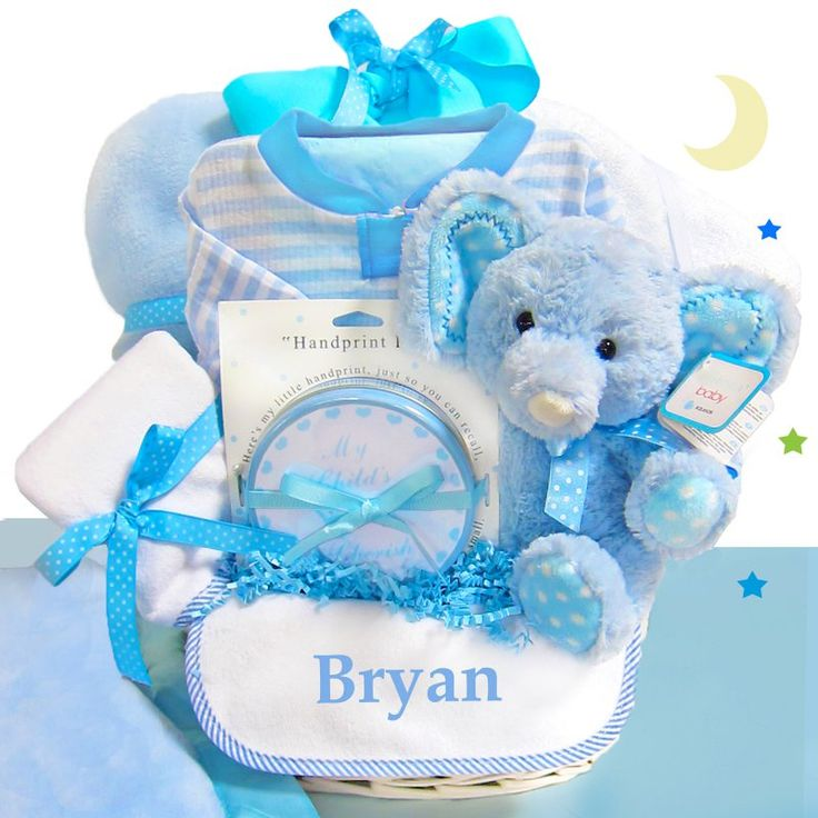 74 best baby gift ideas handmade baby gifts images on pinterest minky dots blue baby gift basket personalized negle Gallery
