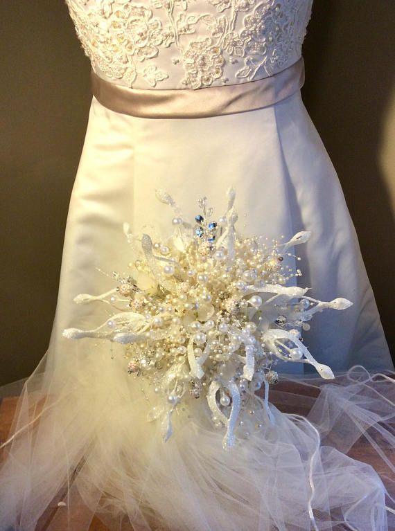 Beautiful Large Pearl Bride Bouquet Brooch Bouquet Elegant Pearl