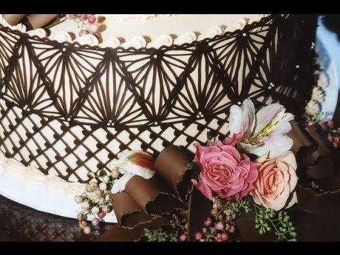 How to Make Chocolate Lace Cake Wraps, My Crafts and DIY Projects