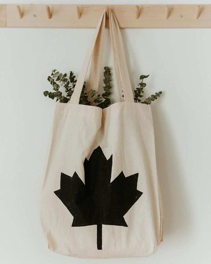 Canada Tote Bag | Handmade Hand Painted | Non-toxic | Market Bag | Eco-Friendly | Shopping Bag | Reusable Bag