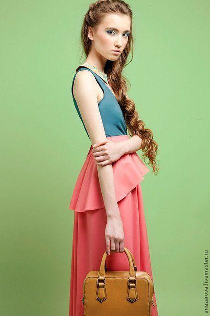 Maxi skirt / Юбки ручной работы. Юбка с баской. Анастасия ANaзarova. Интернет-магазин Ярмарка Мастеров. Однотонный, юбка макси, зима