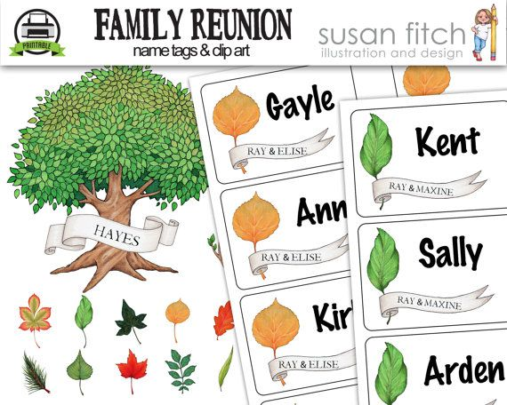 This digital download is a set of Family Reunion name tags designed with multiple generations in mind. Im always wondering Who does that kid
