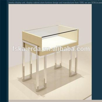 New Products 2014 Glass Jewelry Display Table/Jewelry Table Display