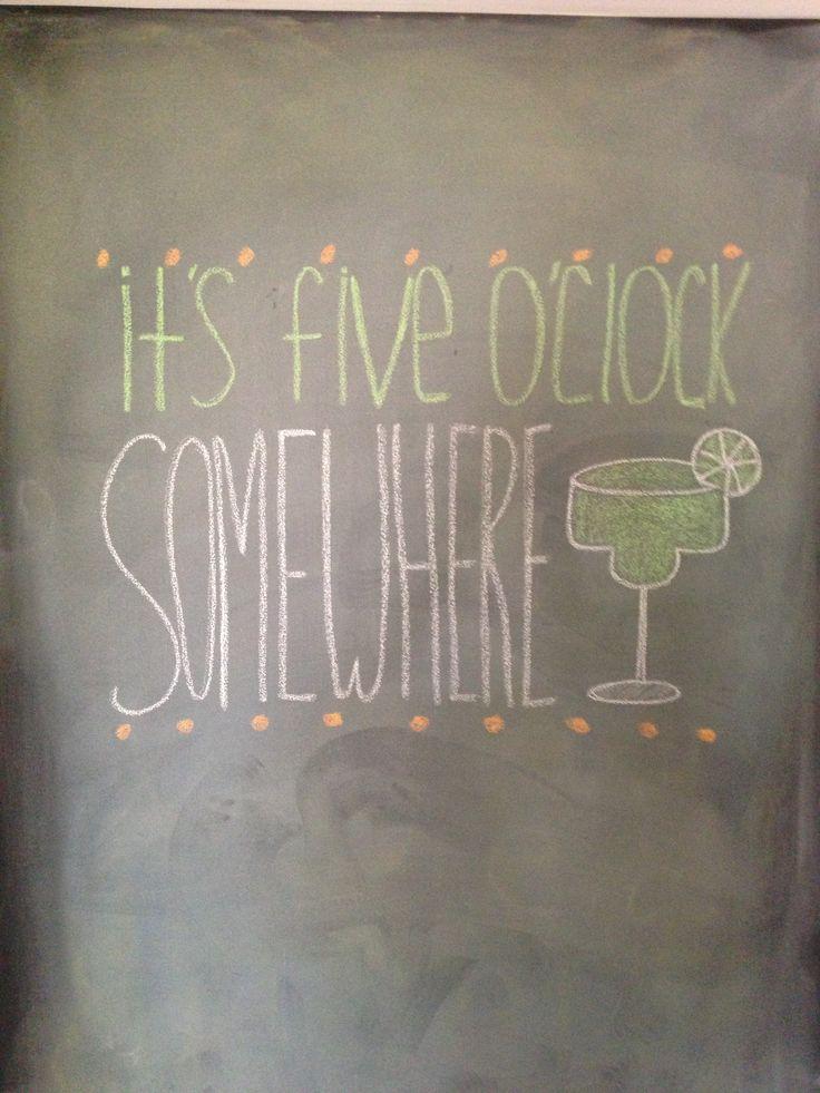 Summer chalkboard wall.