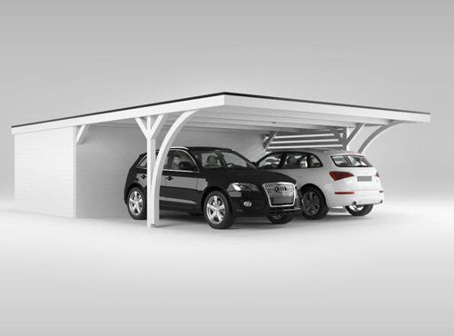 qualit tscarport der marke easycarport de doppelcarport mit 12er leimholzpfosten breite 5 41m. Black Bedroom Furniture Sets. Home Design Ideas