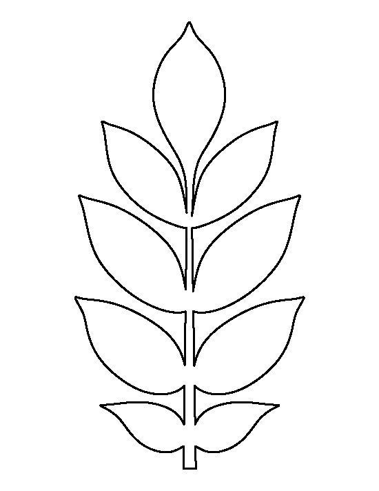 Ash Leaf Pattern Use The Printable Outline For Crafting Creating