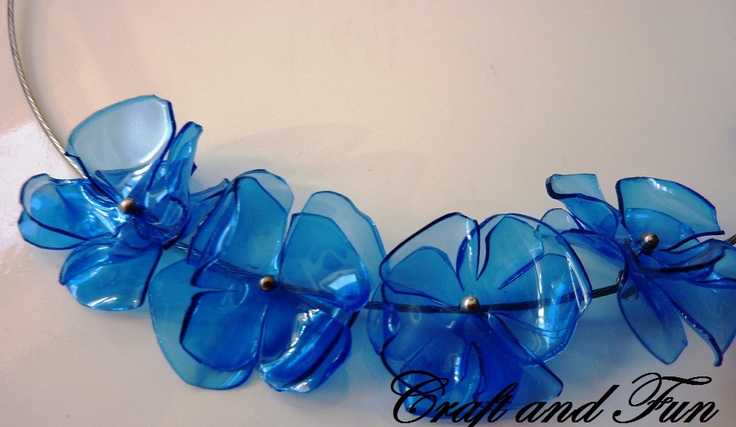 Creative Recycling - Craft and Fun: Creative Recycling plastic necklaces DIY