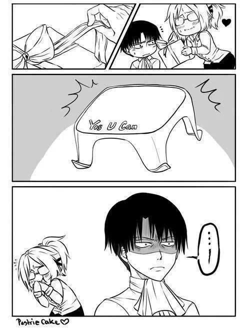 Attack on Titan ~~ I love seeing her yanking his chain :: Levi and Hanji