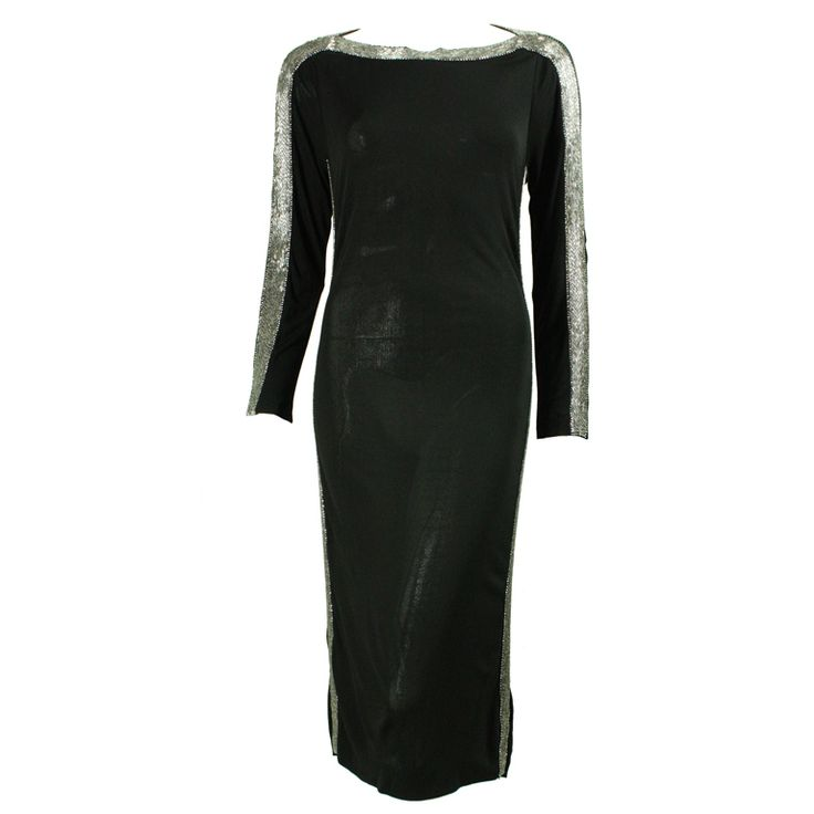 Murray Arbeid Beaded Jersey Cocktail Dress