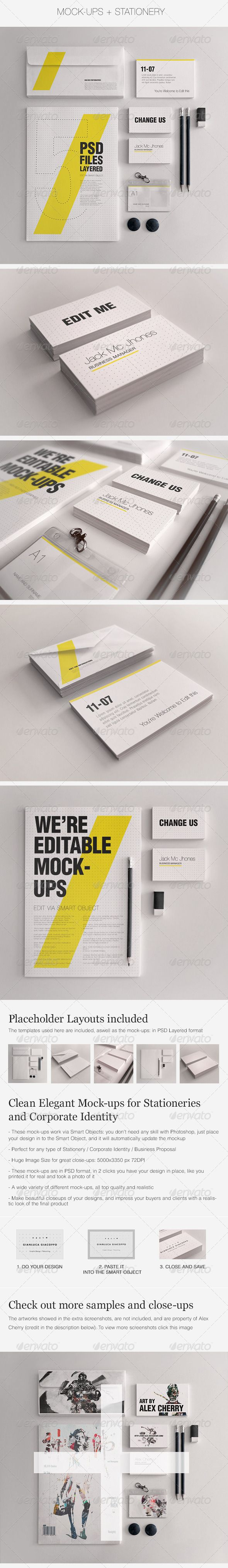 Realistic Stationery Mockups Set 1- Corporate ID - GraphicRiver Item for Sale