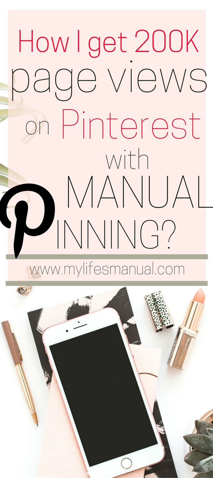 Increase your page views from 0-200K page views per month with manual pinning. If you are wondering if there is a manual pinning strategy to increase blog traffic from Pinterest without paying for a scheduler, This is the answer for you. Learn how to drive insane traffic to your blog without Tailwind or Boardbooster. #blogtraffic #Pinteresttips (affiliate link)