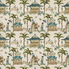 Watercolor Asian Drapery and Upholstery Fabric by Fabricut