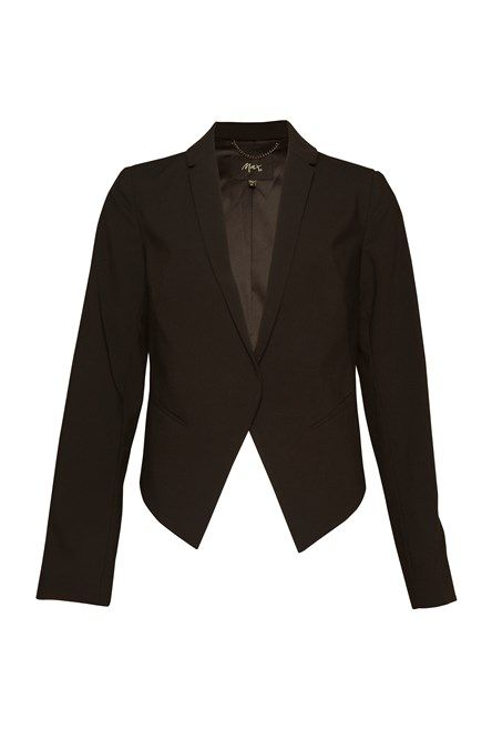 Tailored Crop Jacket Black 1