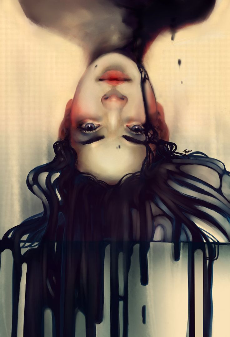is it a feeling or just a drop of ink on my tounge by *Minzile on deviantART