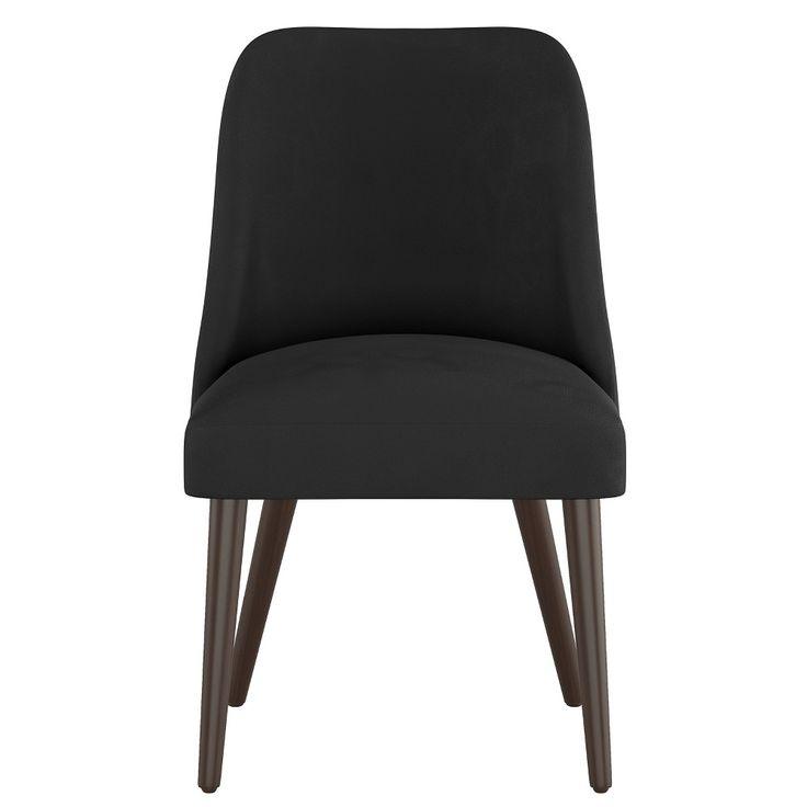 Geller Modern Dining Chair Black Velvet Project 62