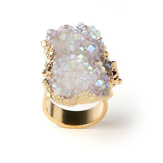 opal aura cluster ring, $287