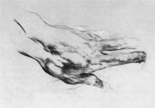 The left artist's hand - Mikhail Vrubel