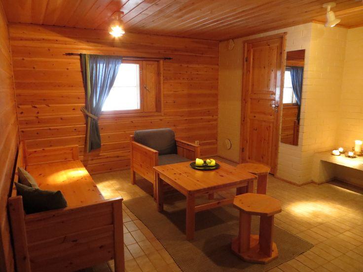 Sauna lounge downstairs, Rukakorpi Holiday Villas