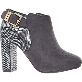 Grey Metallic Ankle Boots