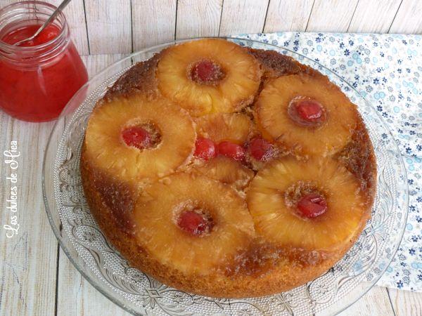 La receta para preparar la tarta invertida de piña