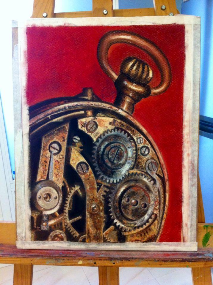 Pastel. Mecanismo reloj