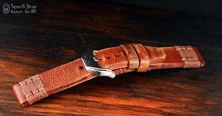 Curele de ceas, din piele, handmade. Topouzelli Straps.: Curea de ceas din seria Pirat, T 837.