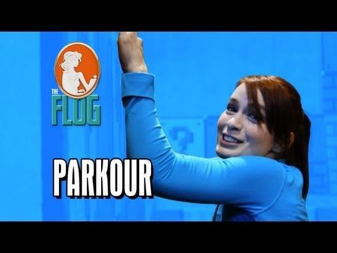 Felicia Day Takes on Parkour and Freerunning