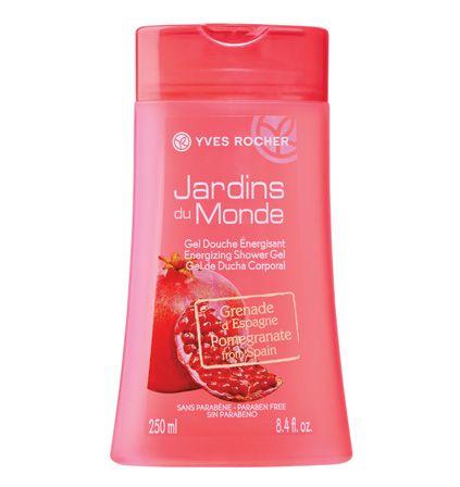 Energizing Shower Gel - Pomegranate from Spain Gel douche énergisant Grenade d'Espagne ! #beauty #spring #printemps