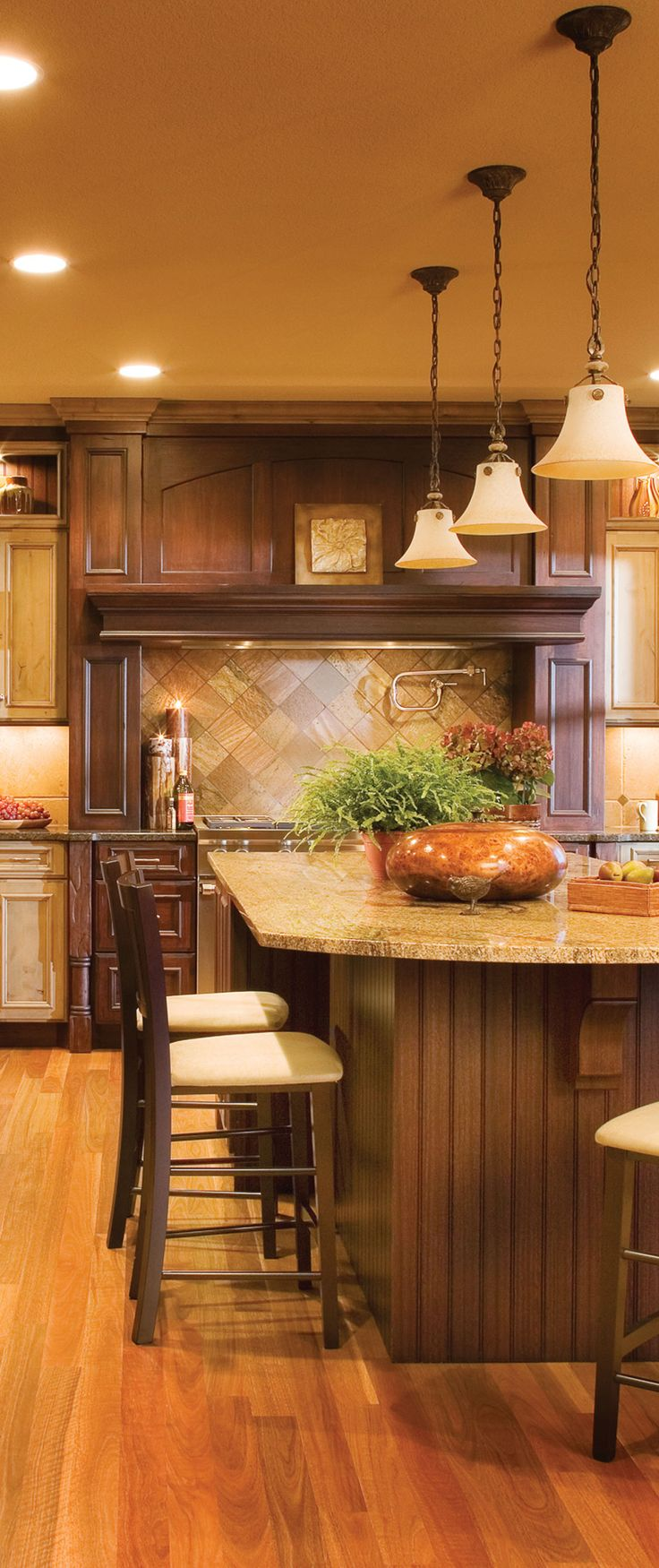Rustic kitchen design mix 2 different kinds of wood and for Different kitchen designs