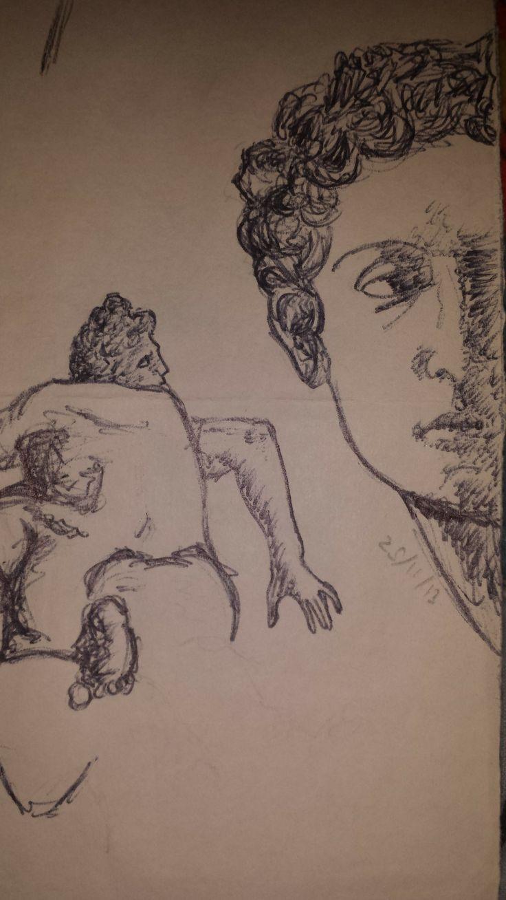 Renaissance sculpture studies (Pen)