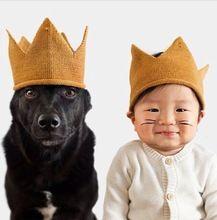 2015 Instagram Oeuf de mode Nyc couronne chapeaux tricotés douce belle bébé drôle d'anniversaire chapeau enfants cadeau(China (Mainland))